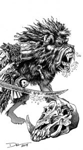 Monster Illustration Detail