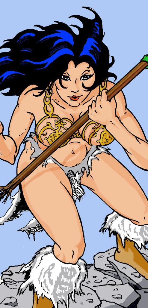 Comic Style Digital Illustration Detail