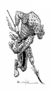 Monster Illustration - Hyenaman