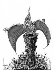 Monster Illustration - Pterodactyl