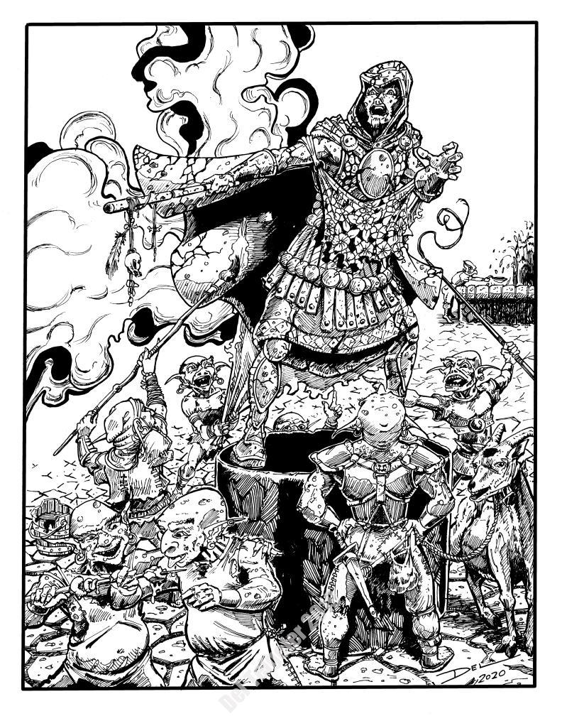 Arden Vul - Pointer in the Goblin Hall - $200 (11x14)