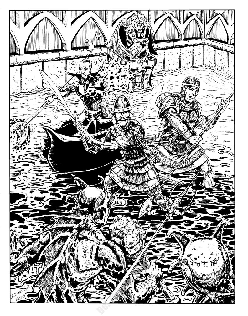 Arden Vul - Fishman Fight - $200 (11x14)
