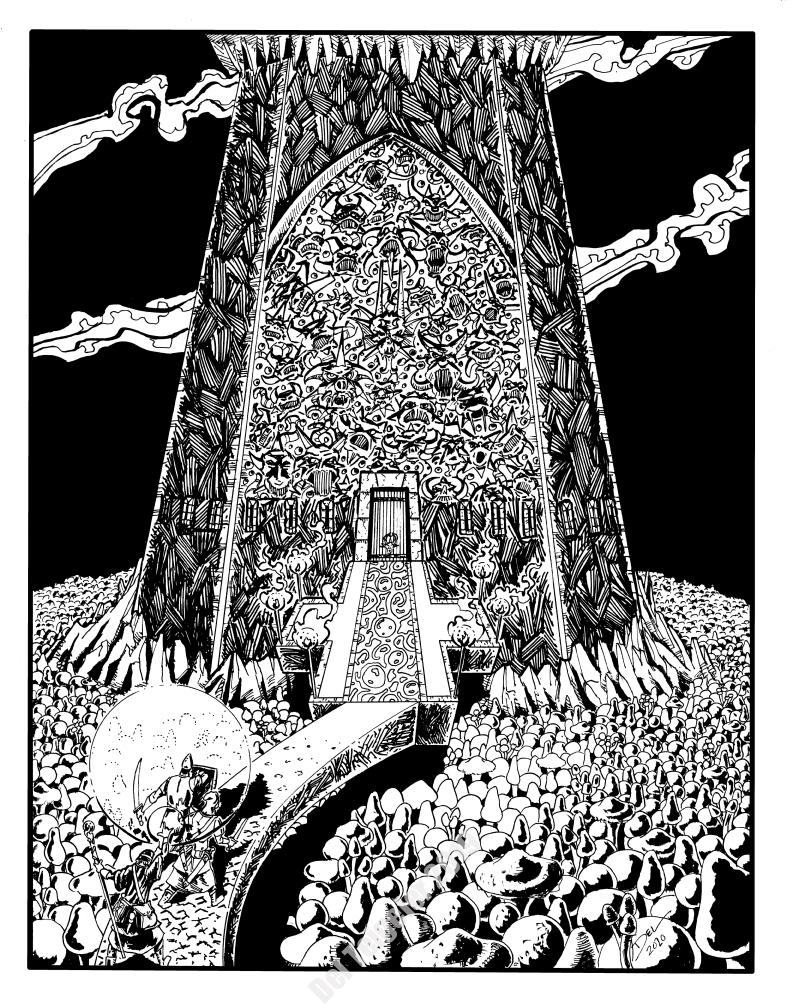Arden Vul - Citadel of the Sun Scarred Knights - $200 (11x14)