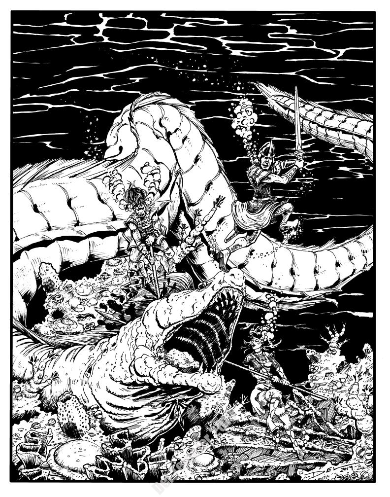Arden Vul - Giant Eel for the Trio - $200 (11x14)