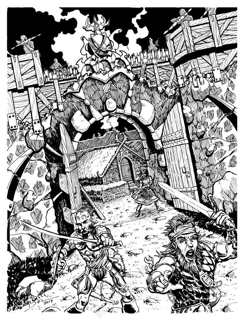 Blackbeard's Stronghold - $250 (11x14)