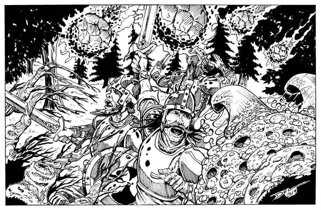 The Slaver Fungus - Forest Scene - $100 (9x12)