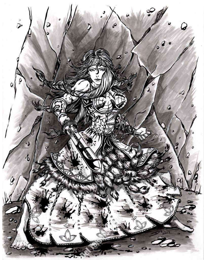 Sea Wolf's Daughter  - $250 (11x14)